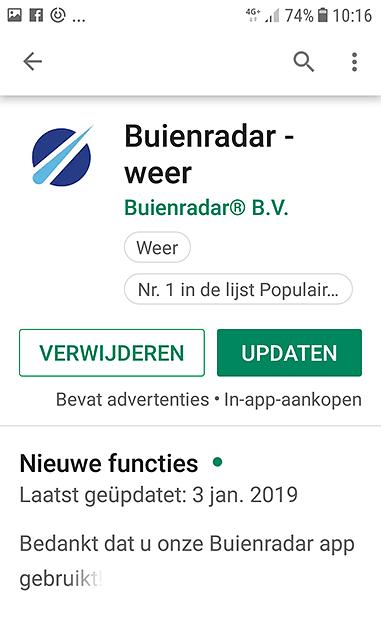 Android app verwijderen via Google Play