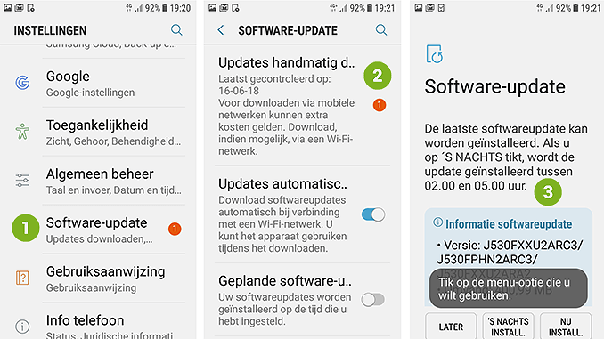 Android software updaten