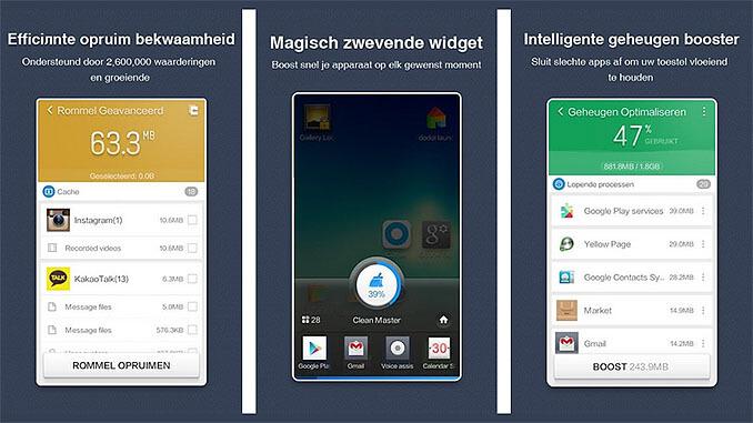 Clean Master Phone Boost App