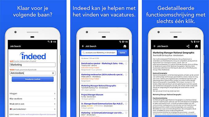 Indeed Vacatures Zoeken App