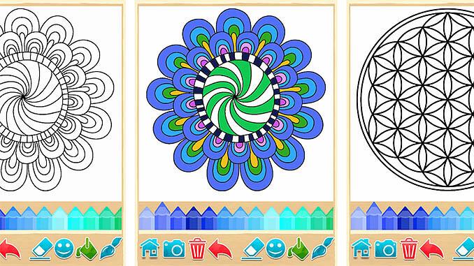 Kleurplaten Voor Volwassenen Tips.Mandala Kleurplaten App Mijnandroidapps Nl