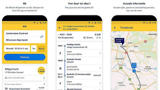 NS Reisplanner (travel planner) app | I amsterdam