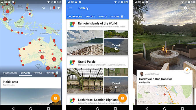 Steet View in Google Maps App