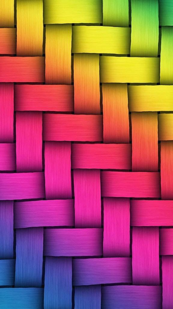 Kleurrijke iPhone 6 en 6S wallpaper