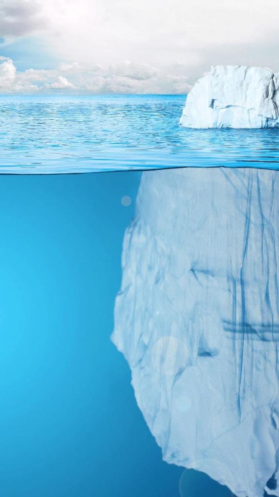 iPhone 6 achtergrond met grote ijsberg