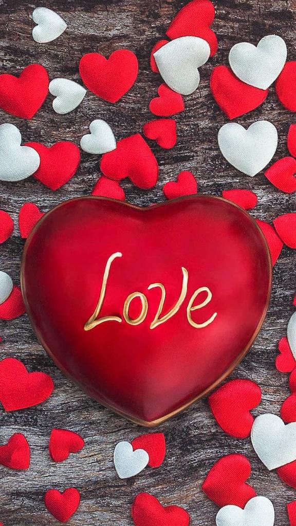 Liefdes iPhone 6 wallaper met groot liefdes hart
