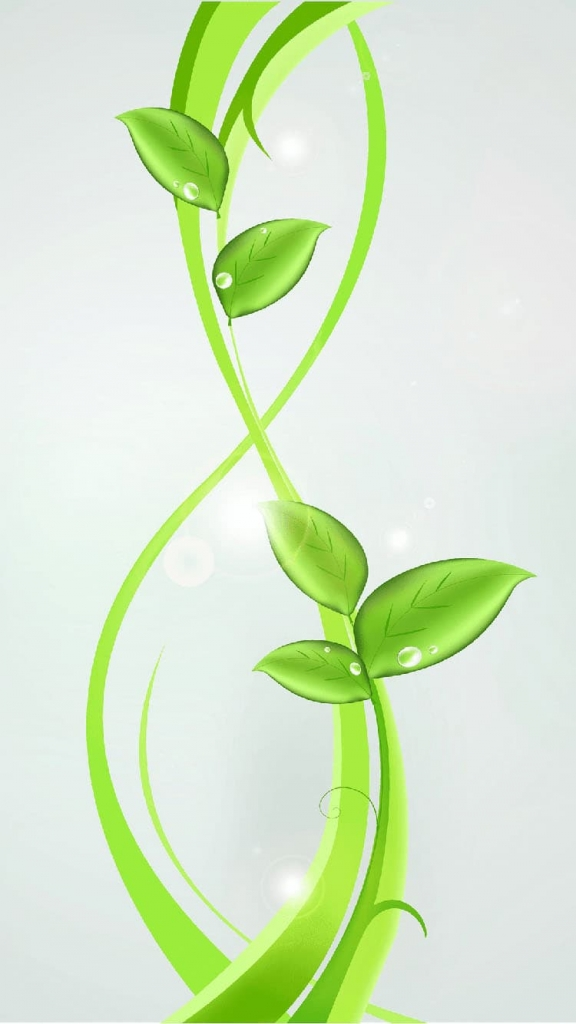 Abstracte iPhone 7 achtergrond met groene plant