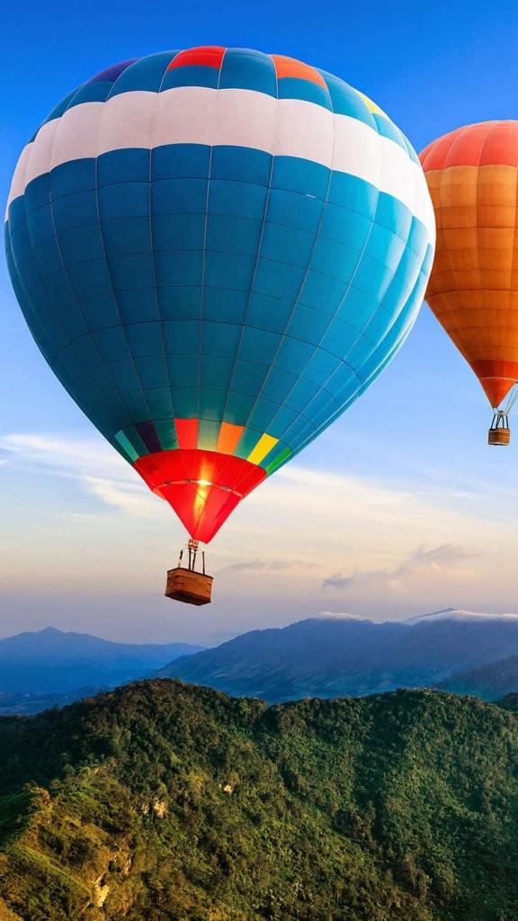 iPhone 7 achtergrond met een luchtballo
