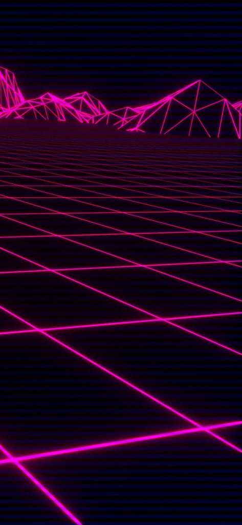 Zwarte iPhone X achtergrond met roze lijnen