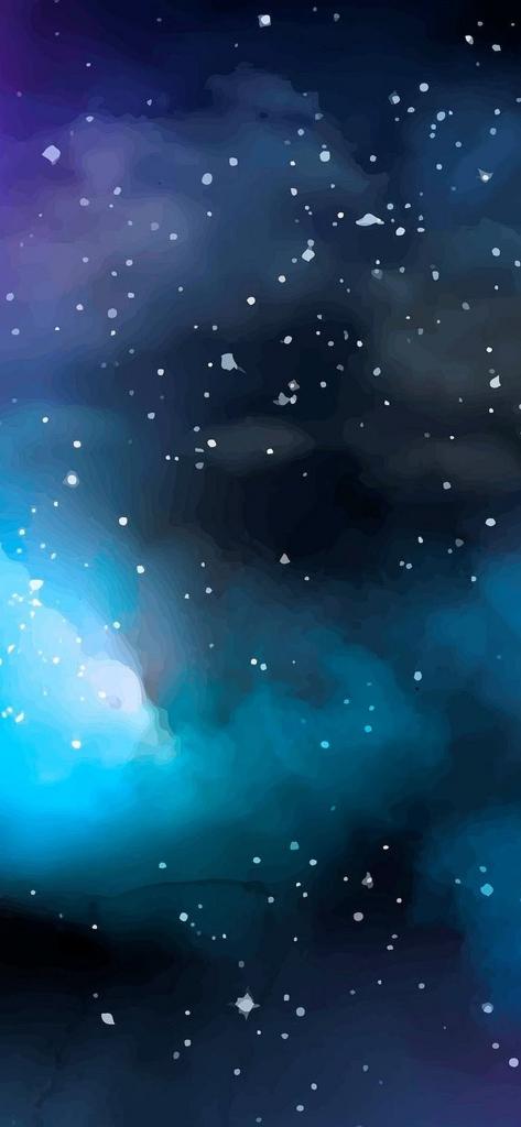 iPhone X achtergrond met ruimtenevel en sterren