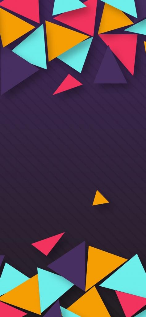 iPhone wallpaper met gekleurde schreven
